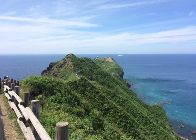 神威岬の先端まで