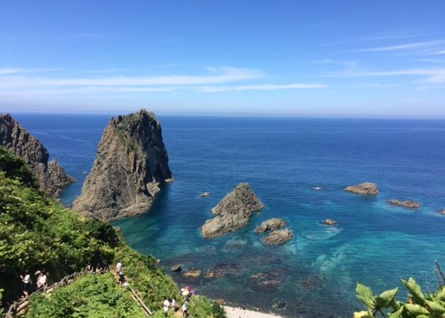 島武意海岸 絶景