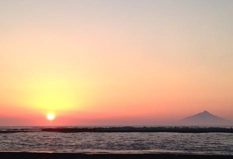 天塩町 夕陽